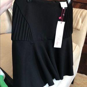 NWT Parker black skirt flare size 4 basic